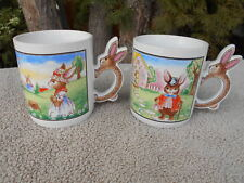 VINTAGE 90's EASTER BUNNY MUGS  [lot of 2]
