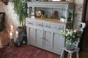 Vintage Solid Oak sideboard, cabinet. Dresser.