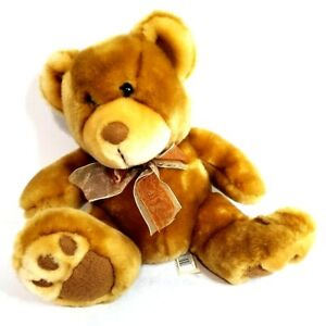 Dan Dee Collector's Choice Teddy Bear Plush Brown Brown Bow 14""