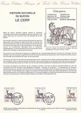 Document Philatélique Timbre 1er Jour : 18/06/ 1988 - De Buffon - Le Cerf