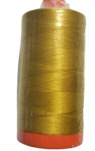 Aurifil 50 wt Mako Cotton Thread, 1422 Yard Spool, Color 5022 Mustard