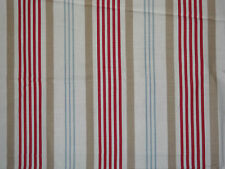 "CLARKE & CLARKE ""ELEANOR"" 2 metres curtain fabric RED/BLUE/BEIGE"