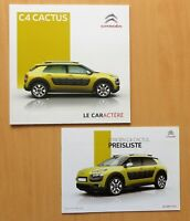 1707) Citroen C4 Cactus Prospekt 12/2015 + Cactus Preisliste 03/2016 Price List