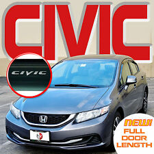 2012 2013 2014 2015 Civic Window 4 Door Visors Deflectors Vent Shades with Logo