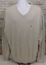 TOMMY HILFIGER Men's V-Neck Sweater Size XXL / 2XL Pacific