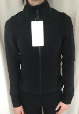 LULULEMON Size 4 Hot Mesh Jacket Black Zip Up Stretch Mesh Define Shape Run NWT