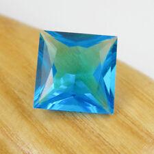 Square 14x14mm Cut 9.77 carats Created Blue Topaz Cubic Zirconia Loose Gemstone