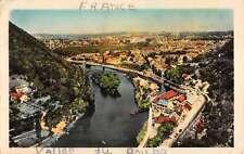 Vallee Du Doubs France Besancon Les Bains Birdseye View Antique Postcard K20673
