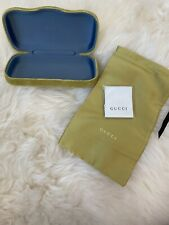 GUCCI Large Lime Green Sunglasses Case With Lens Cloth And Soft Dust Bag