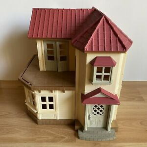 Calico Critters Light Up Red Roof Country Home Sylvanian Epoch House Mansion