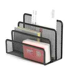 Desktop Organizer Tray Sorter Mail Letter Storage Holder Office Desk Table Black