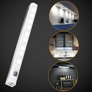 LED Kitchen Under Cabinet Cupboard Shelf Counter Strip Bar Light Lamp White US