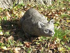 Crouching cat stone garden ornament <<VISIT MY SHOP>>