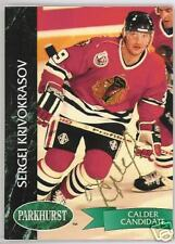SERGEI KRIVOKRASOV CHICAGO BLACK HAWKS 1993  AUTOGRAPHED HOCKEY CARD JSA