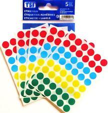240 Stück Markierungspunkte  bunt  12 mm 5 Blatt pro Packung
