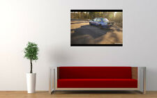 BLUE TUNED BMW 3 SERIES NEW GIANT LARGE ART PRINT POSTER PICTURE WALL