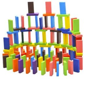 120Pcs 12Colors Set Authentic Standard Wooden Children Domino Game Toys Gift