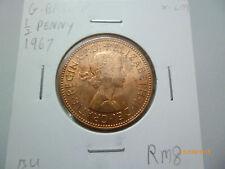 Great Britain half penny coin 1967