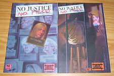 No Justice, No Piece! #1-2 VF/NM complete series - warren ellis  too much coffee