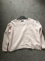 M&S Autograph Pale Pink Cashmere Silk Jumper Knit Size 10 12 14