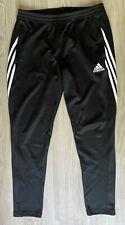 Men's Adidas Tracksuit Bottoms - Black - Size Large - Excellent Condition