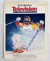 Donna Weinbrecht Autographed Signed New York Times Magazine 1992 Olympics Skiing