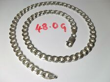 Very Nice Mens Ladies Curb Chain Solid Sterling Silver 925 Length 20 inches