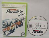 Burnout Paradise Racing Crash Smash Game - Microsoft Xbox 360 Rare Tested Works