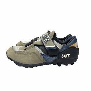 Lake MX-201 Biking Cycling Shoes Sneakers Road Mens Size 10 EU 44 Gray Blue