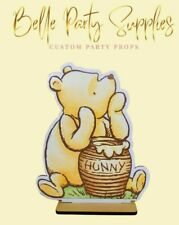 """10"""" Winnie the Pooh Bear Wood Stand Party Prop Centerpiece Party Table Decoratio"""