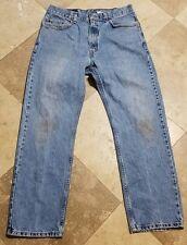 Levis 505 34x30 Light Wash Red Label Jeans Blue Pants
