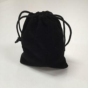 5 x VELVET GIFT POUCH SMALL BLACK DRAWSTRING BAG JEWELLERY WEDDING FAVOR BEADS