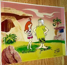 Flintstones Hanna Barbera signed Original Publicity cel Pebbles Bamm Bamm Show
