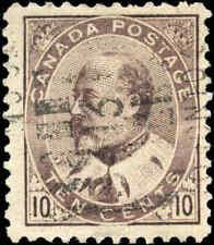 1903 Used Canada 10c F+ Scott #93 King Edward VII Stamp