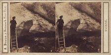 Oberland Bernois Suisse A. Braun Stéréo Vintage Albumine ca 1860