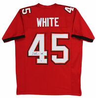 Buccaneers Devin White Authentic Signed Red Jersey Autographed BAS Witnessed