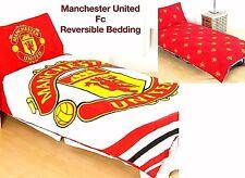 Manchester United FC Edredón Funda de almohada Individual Niños Juego cama Mufc