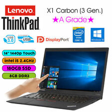 """Lenovo X1 Carbon 3rd Gen Ultrabook 14"""" QHD Touchscreen i5-5300U 8GB 180GB SSD"""