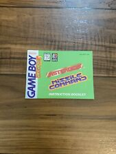 Asteroids Missle Command  Game Boy Manual