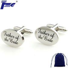 Fashion Cuff Links FATHER OF THE BRIDE Wedding Gift Cufflinks With Velvet Bag
