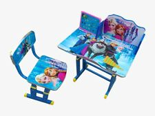Kids Children Home Study ELSA ANNA FROZEN Table Storage Cartoon Desk Stool Set