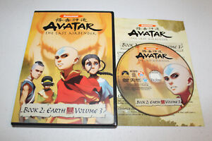 Avatar The Last Airbender Book 2: Earth - Vol. 3 (DVD 2007) Nickelodeon