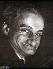 """Héliogravure - 1925 -      """" Sarcasme  - Saoul Bransbourg """""""