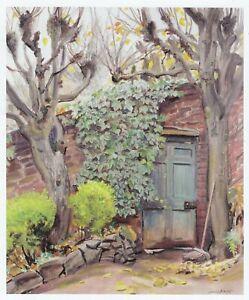 The Garden Door, Dame Laura Knight print in 10 x 12 inch mount SUPERB