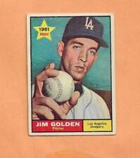 JIM GOLDEN ROOKIE TOPPS 1961 CARD # 298