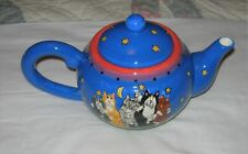 Catzilla Teapot - 5 Cats - Candace Reiter - 2001 - 48 Oz - New