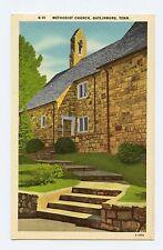 Methodist Church in Gatlinburg, TN Color Linen Postcard
