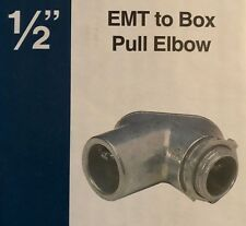 """Sigma / Pro Connex 1/2"""" EMT to BOX Pull Elbow Conduit Connector - 1/2-inch - NEW"""