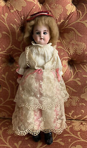 Antique RUTH Armand Marseille Bisque Head KIDETTE DOLL Leather Disc Jointed Body