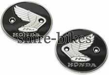 Genuine Honda Round Metal Badges (Pair) for Honda CB92, CA200, S90, CB160, CL90